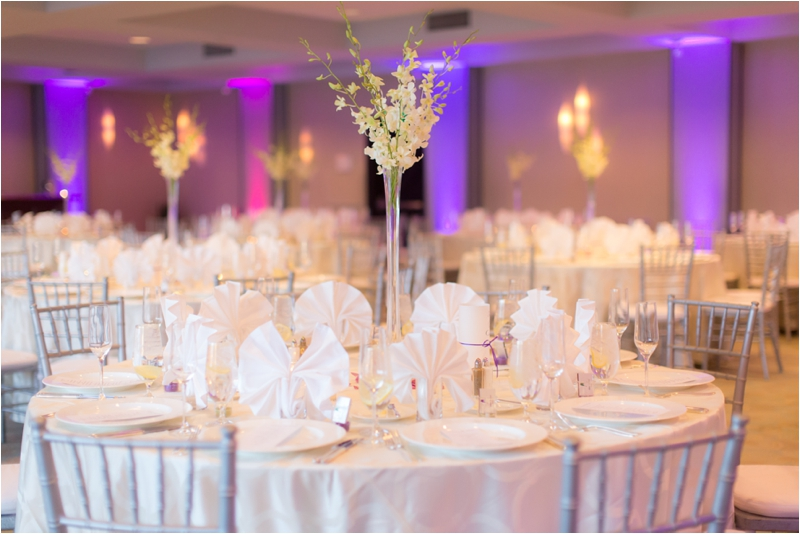 Reception details for a Royal Sonesta Boston wedding.