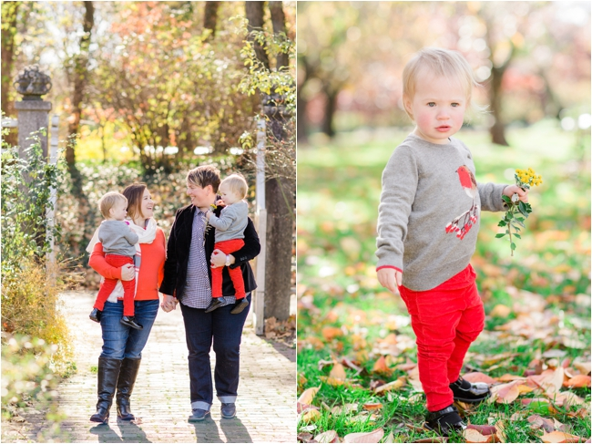 A family session in the Brooklyn Botanic Gardens by Deborah Zoe Photography.