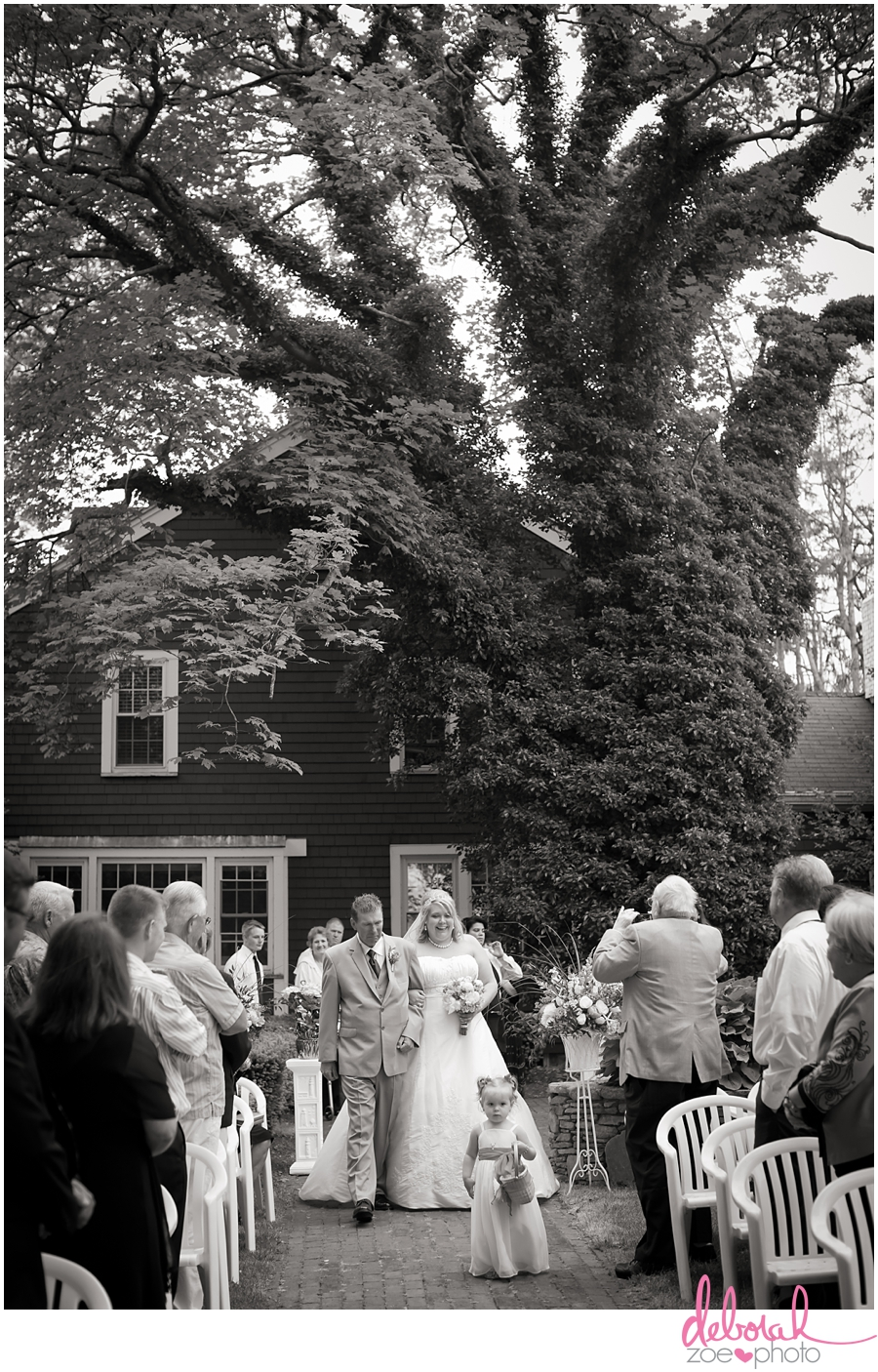 Cape Cod Wedding Massachusetts Wedding Photographer Summer Wedding Outdoor Ceremony Pink Wedding Details Ocean Themed Wedding Coonamessett Inn Wedding Deborah Zoe Photo018