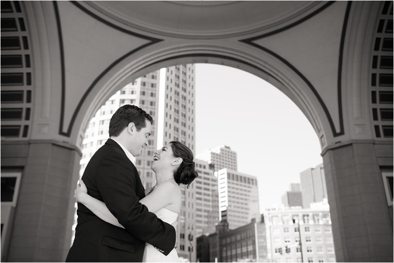 Boston elopement with portraits at the Boston Harbor Hotel