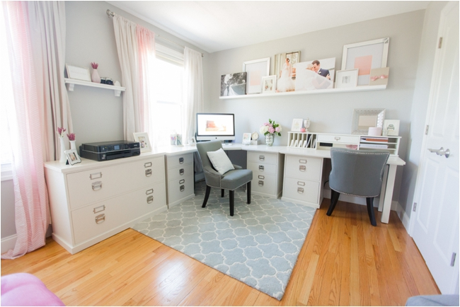 Wedding photographer home office space.