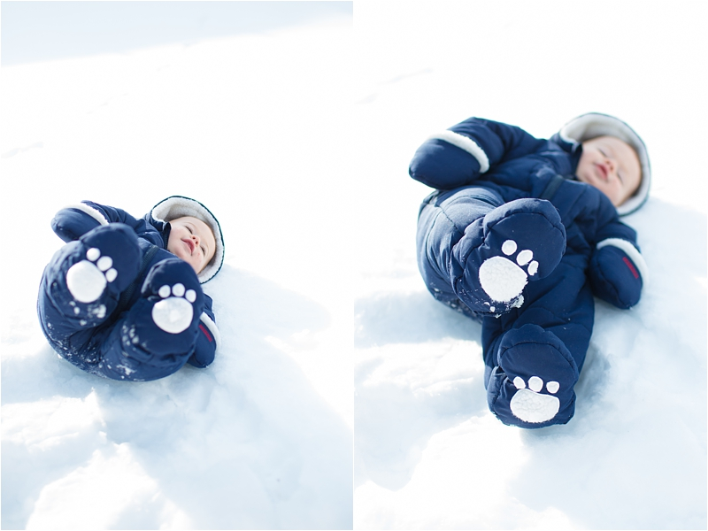 baby in snow suit deborah zoe photography