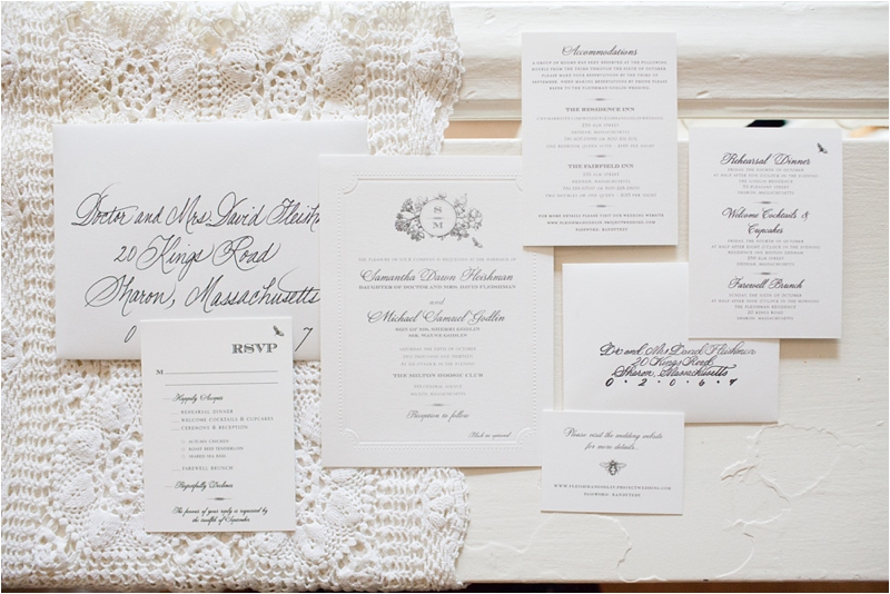 wedding invitations at the milton hoosic club