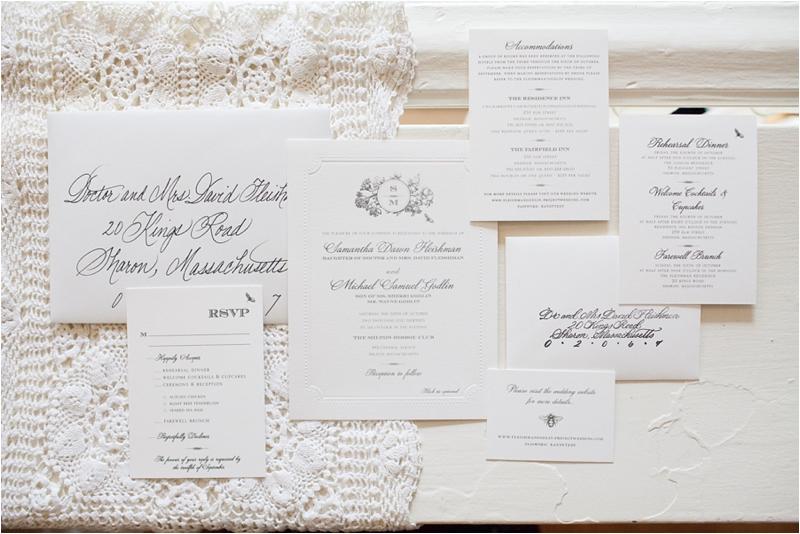 wedding invitations at the milton hoosic club