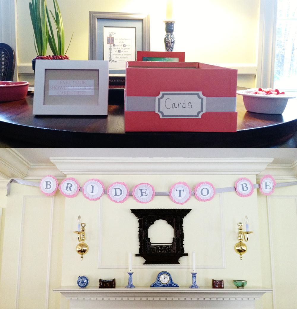 DIY shower new england wedding photographer deborah zoe photo pink gray wedding shower3