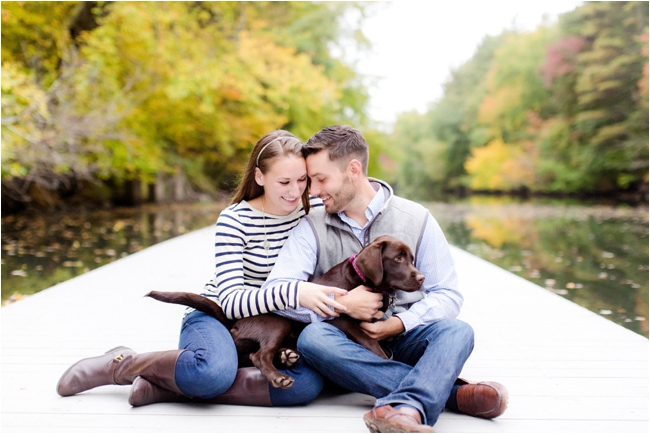 A fall foliage engagement session by Deborah Zoe Photography