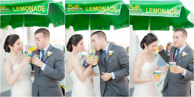 Dels lemonade at Newport wedding.