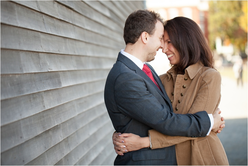 engagement session in Salem, Massachusetts