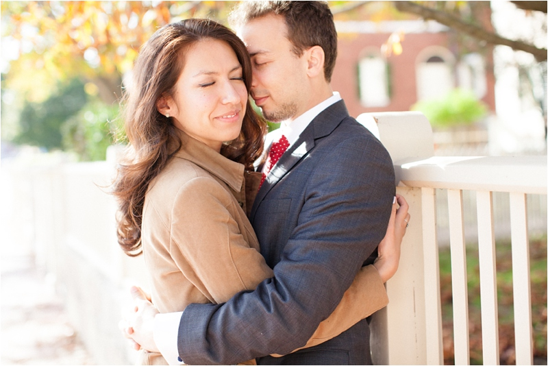 engagement session in historic Salem