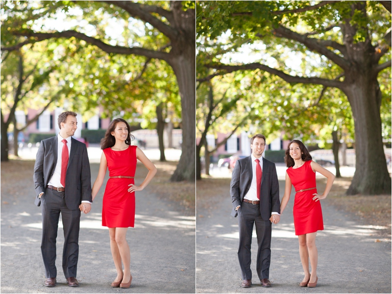 Engagement Session in Salem Common in Salem Massachusetts