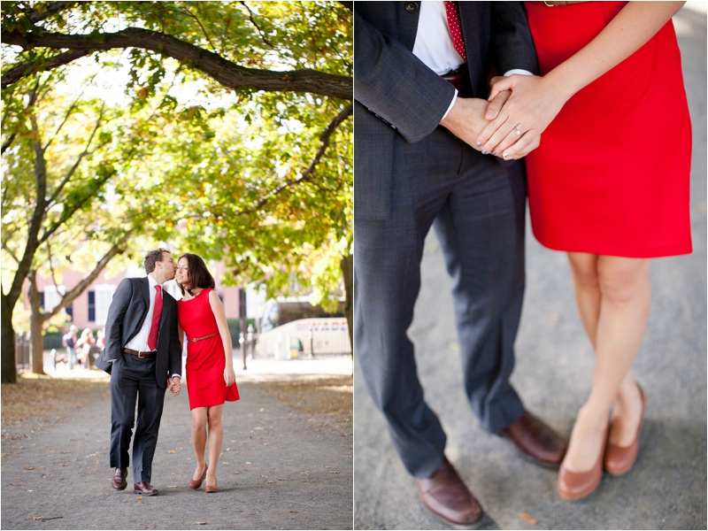 engagement session on the Salem Commons