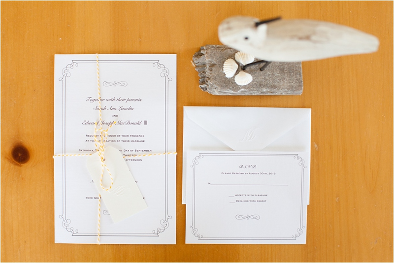 coastal invitations to announce maine wedding