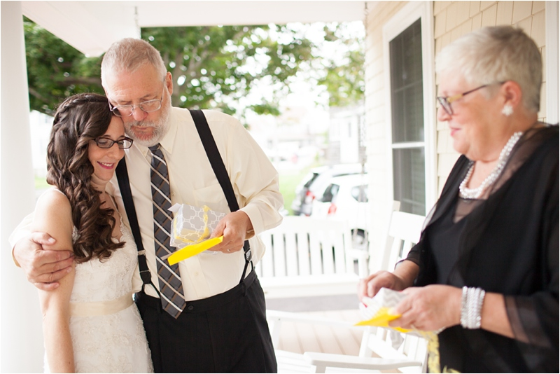parent gifts from bride on maine wedding day