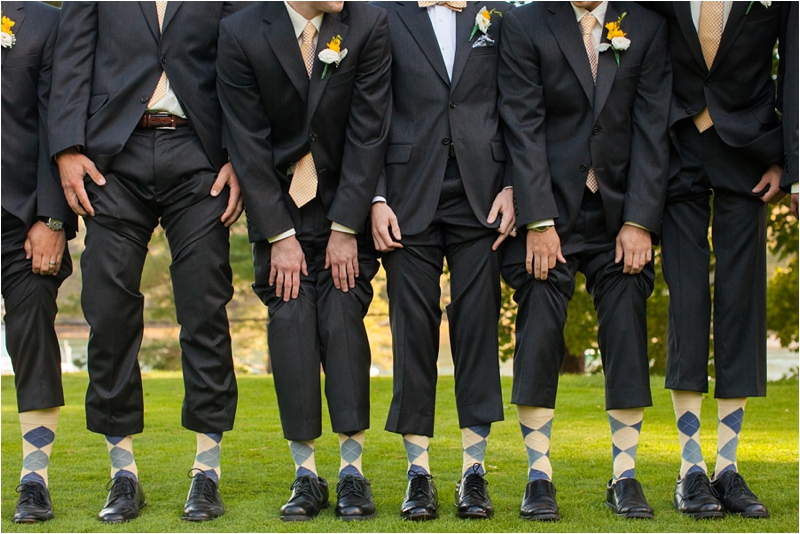 groomsmen wear argyle sox at maine coastal ceremony