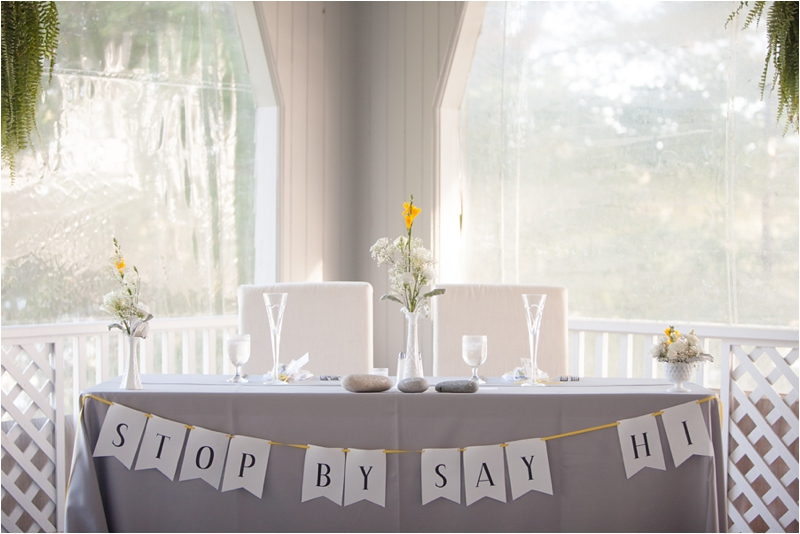 elegant privacy table set up for newlywed couple at York Golf and Tennis Club in Maine