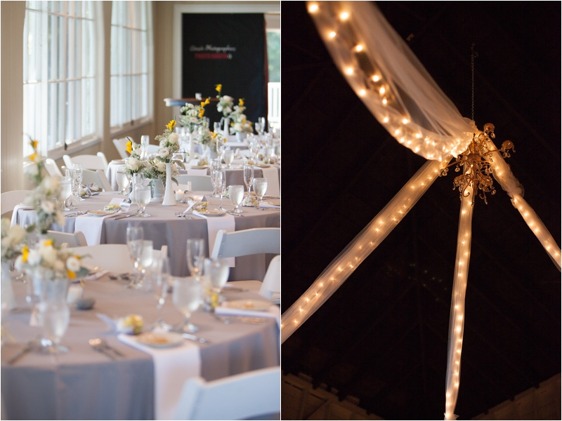 Candlelit lighting illuminates a romantic setting at York Golf and Tennis Club