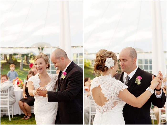 The First Dance captured by Deborah Zoe Photography, Boston based wedding photographer.