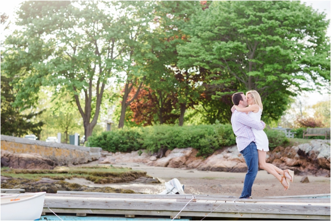 Manchester by the sea engagement session by Deborah Zoe Photography.
