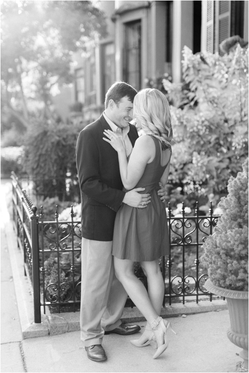 Summer Beacon Hill Engagement session by Deborah Zoe Photography.