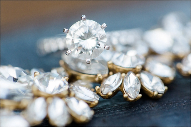 Six pronged solitaire engagement ring by Deborah Zoe Photography.