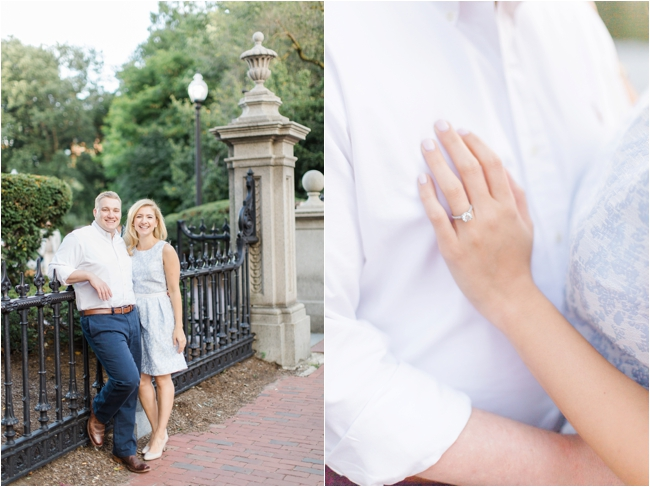 Boston Public Garden engagement session photographed by Deborah Zoe Photography.