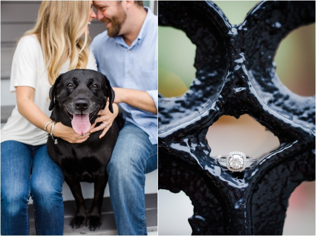 At home engagement session photographed by Deborah Zoe Photography.