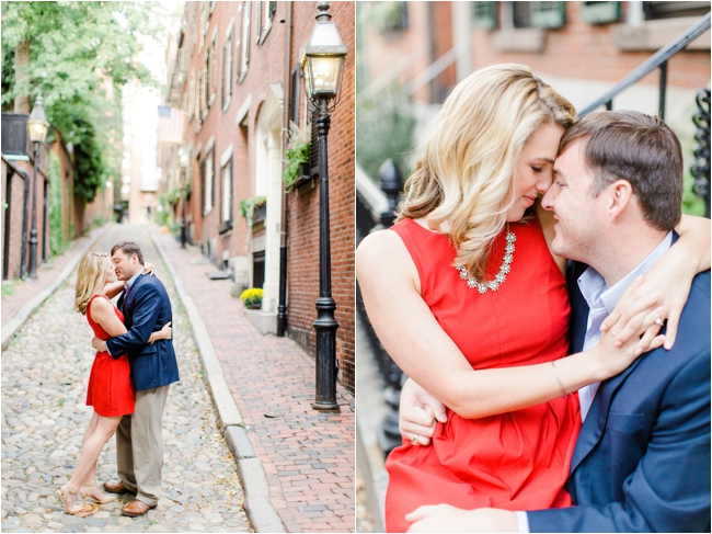 Historic Beacon Hill engagement session photographed by Deborah Zoe Photography.