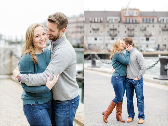 Christopher Columbus Park engagement session photographed by Deborah Zoe Photography.