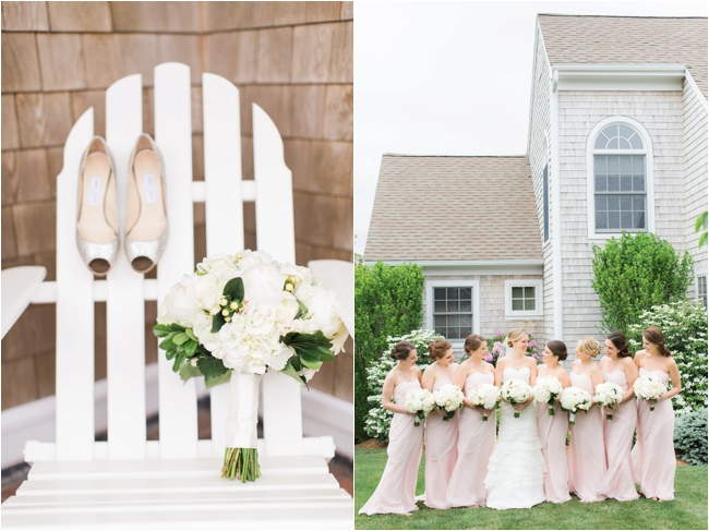 Pink and cream wedding details for summer wedding photographed by Deborah Zoe Photography.