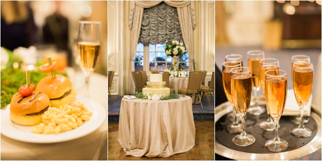 Cocktail hour at the Fairmont Copley Plaza photographed by Deborah Zoe Photography.