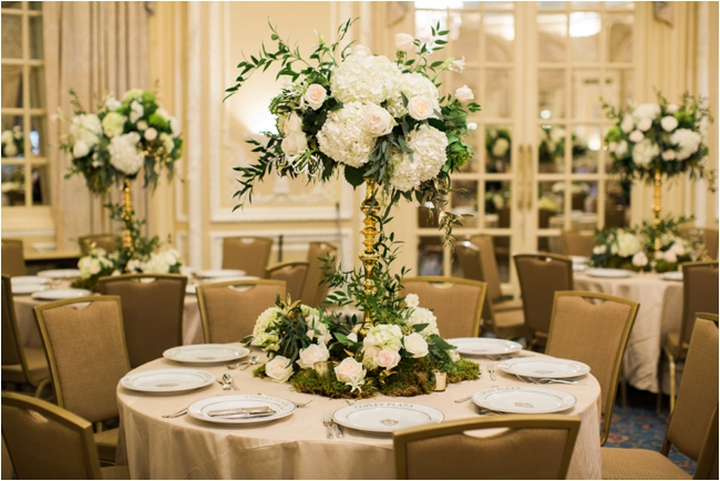 Organic greens and pastel florals at Fairmont Copley Plaza photographed by Deborah Zoe Photography.
