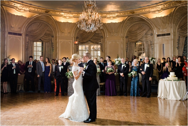 Fairmont Copley ballroom Wedding couple first dance photographed by Deborah Zoe Photography.