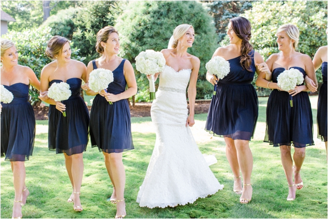 Navy and cream wedding details photographed by Deborah Zoe Photography.