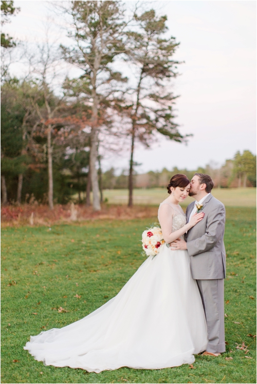Fall wedding photographed by Deborah Zoe Photography.