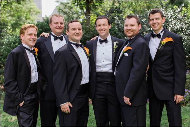 Black tie wedding party in Boston photographed by Deborah Zoe Photography.