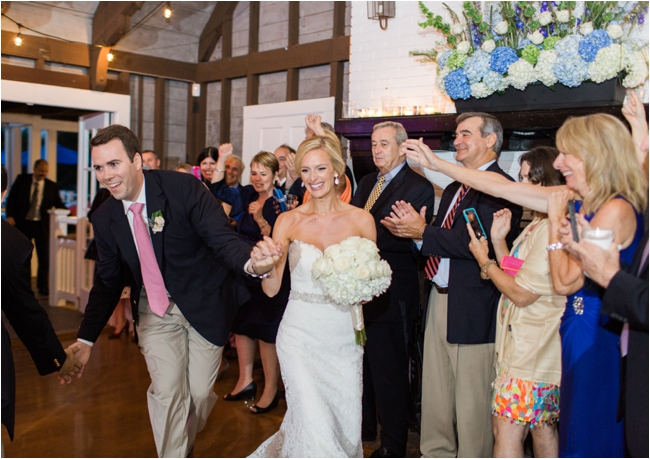 Couple introduced to their wedding reception photographed by Deborah Zoe Photography.