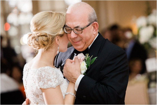 Father and Daughter dance Fairmont Copley Plaza wedding photographed by Deborah Zoe Photography.