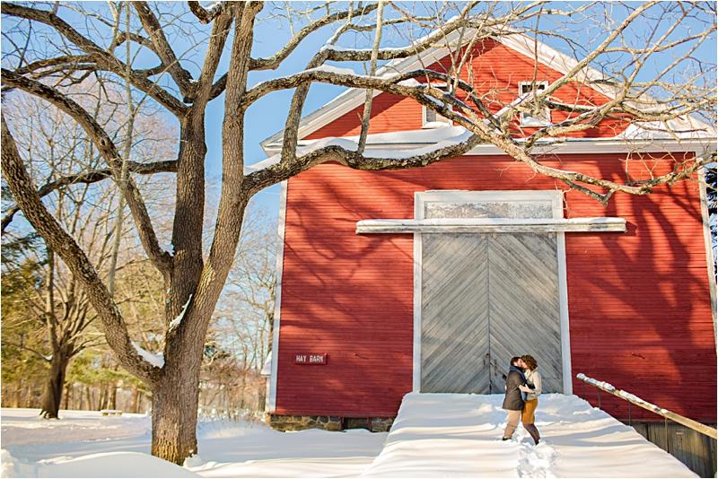 Endicott Park Winter Engagement Session Deborah Zoe Photography