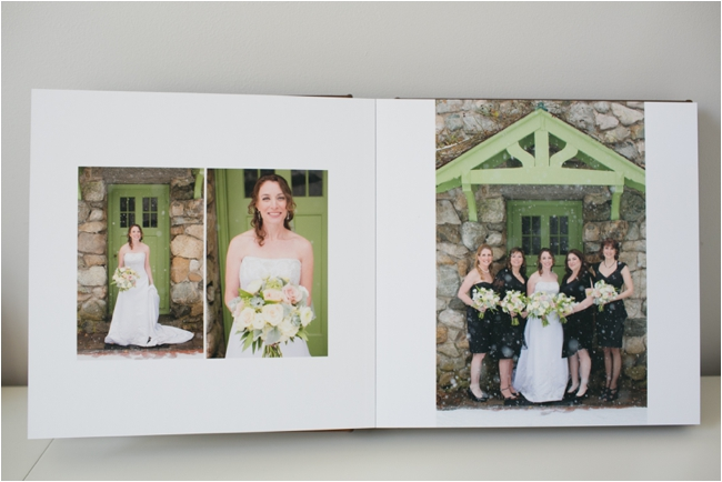 A peek inside a real client album by Deborah Zoe Photography