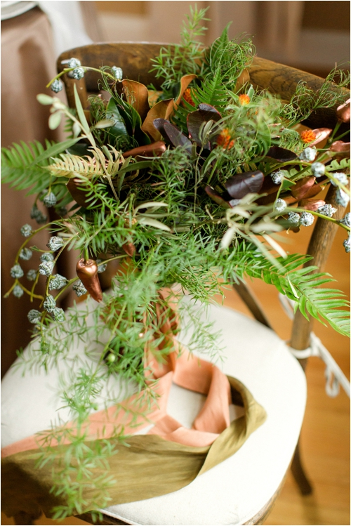 Natural Greenery Fall Wedding Inspiration by Deborah Zoe Photography.