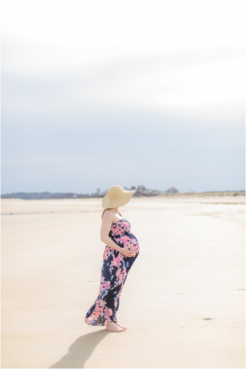 A Plum Island Maternity Portrait Session by Deborah Zoe Photography.
