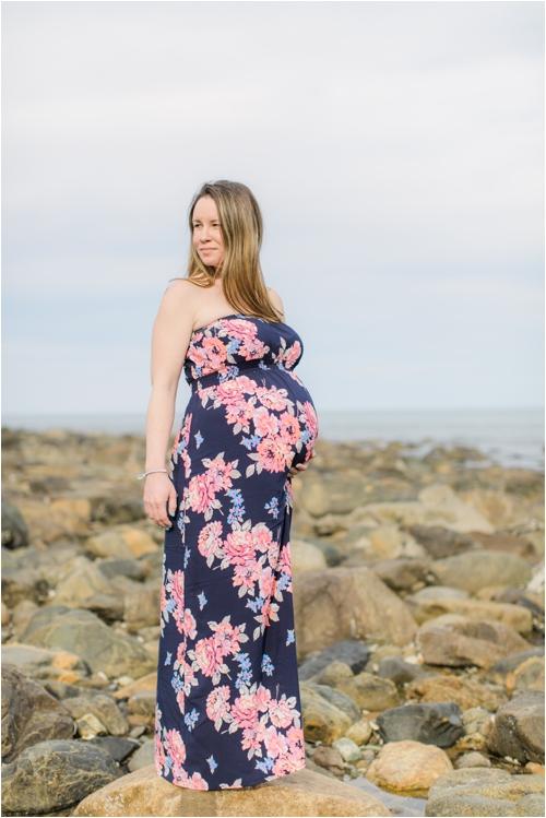 A Plum Island Maternity Portrait Session by Deborah Zoe Photography.