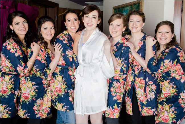 Bridal party getting ready at Mirbeau Inn & Spa by Deborah Zoe Photography.
