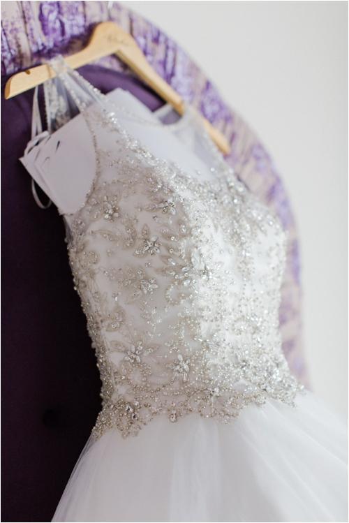 Wedding dress at Mirbeau Inn & Spa by Deborah Zoe Photography.