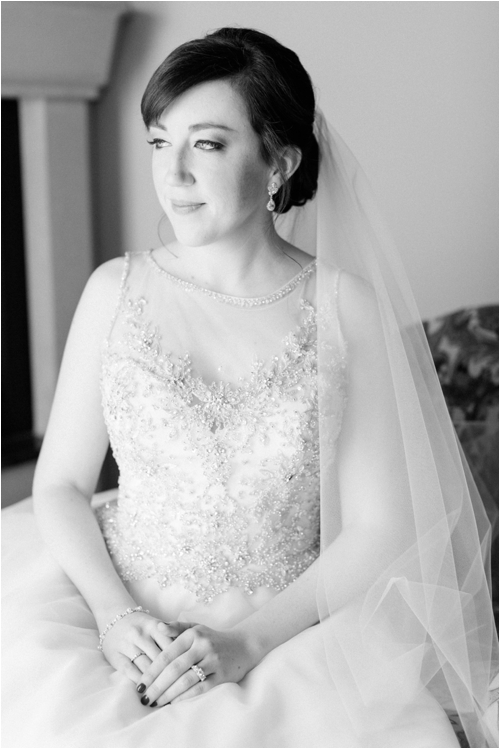 Classic Bridal Portrait at Mirbeau Inn & Spa by Deborah Zoe Photography.