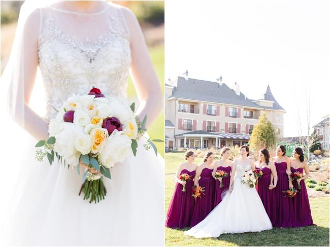 Plum wedding details at Mirbeau Inn & Spa by Deborah Zoe Photography.