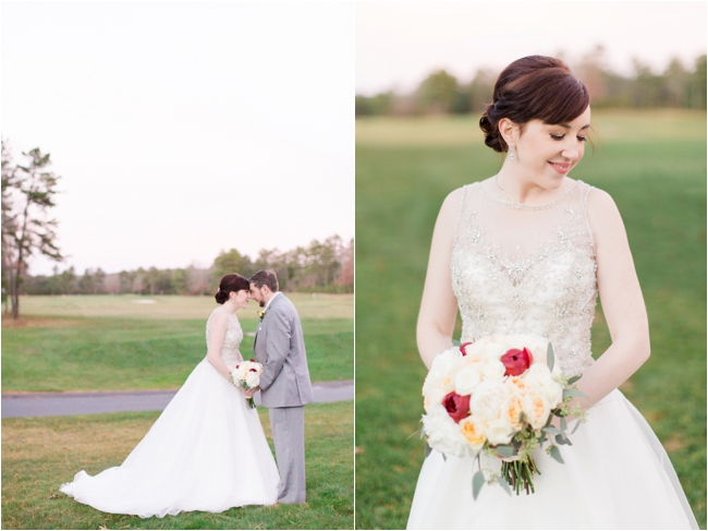 Bride & Groom on wedding day Pinehills Golf Club photographed by Deborah Zoe Photography.