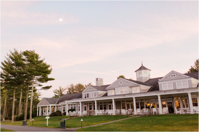 Pinehills Golf Club at sunset during November wedding photographed by Deborah Zoe Photography.