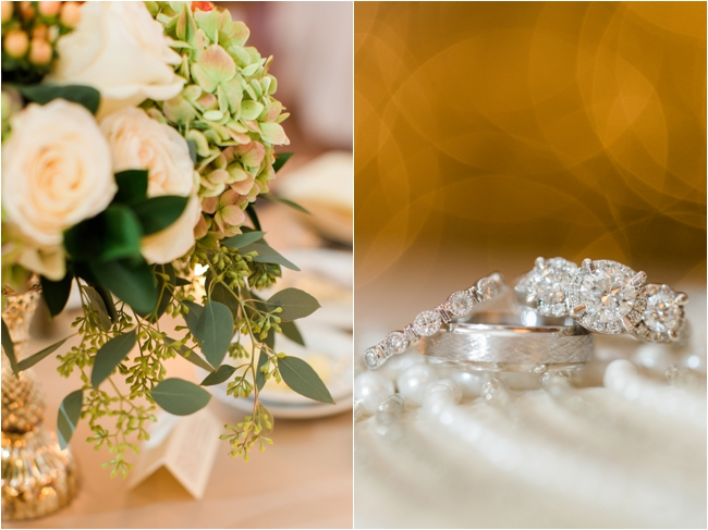 Gold wedding details at Pinehills Golf Club photographed by Deborah Zoe Photography.