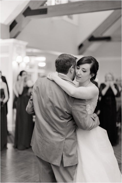 Bride & Groom share first dance at Pinehills Golf Club photographed by Deborah Zoe Photography.